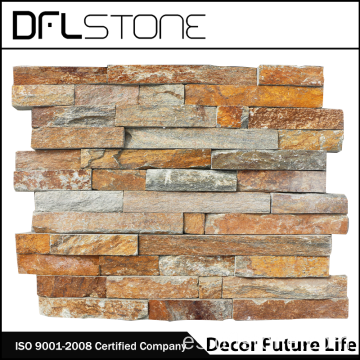 Pared exterior popular Rusty Quarzite Ledgestone Paneles